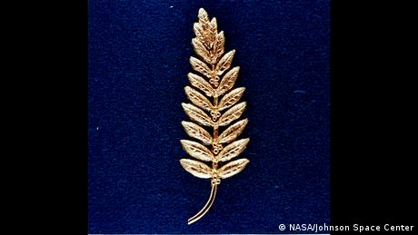 Gold brooch Neil Armstrong left on the moon.