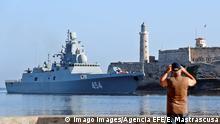 Kuba Russische Marineschiffe im Hafen von Havanna
