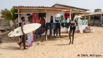 Local female surfers