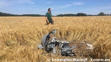 Deutschland Absturz Eurofighter in Mecklenburg-Vorpommern