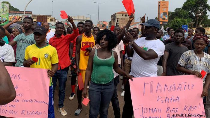 Guinea-Bissau Protest gegen Präsident Jose Mario Vaz in Bissau