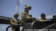 Members of the National Guard prepare for an operation in search of undocumented migrants in Arriaga, Mexico, Monday, June 24, 2019. Mexican authorities are reinforcing efforts to deter Central Americans and others from crossing the country to reach the United States, detaining migrants in the south and stationing National Guardsmen along the Rio Grande in the north. (AP Photo/Oliver de Ros)  