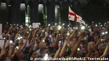 Georgien   Demonstranten in Tiflis