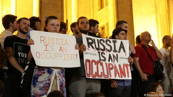Proteste gegen Besuch russischer Politiker in Tiflis, Juni 2019
