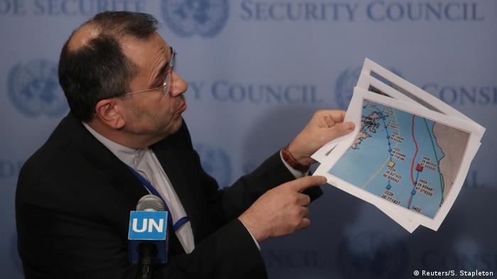 مجید تختروانچی، نماینده جمهوری اسلامی در سازمان ملل در یکی از نشستهای شورای امنیت