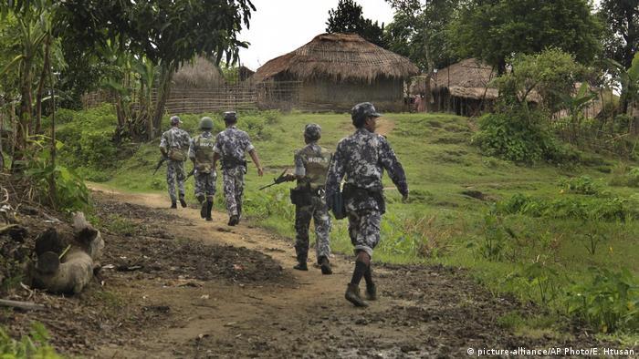 Myanmar borde police patrol Rakhine state