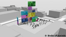Modell geplantes Mahnmal für die Opfer des NSU Keupstraße Köln