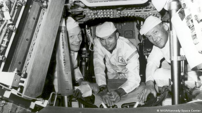 Die Apollo 11-Crew (v.l.n.r.): Neil Armstrong, Michael Collins, Buzz Aldrin.