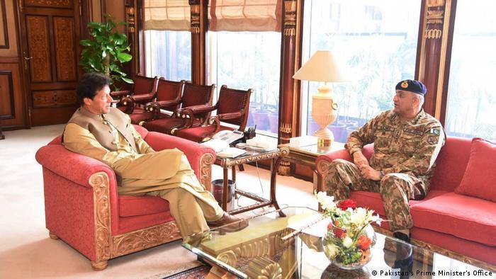 Pakistani PM Imran Khan and army chief Qamar Javed Bajwa