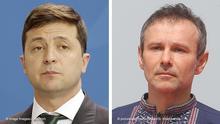 Bildkombo Wolodymyr Selenskyj und Vyacheslav Vakarchuk