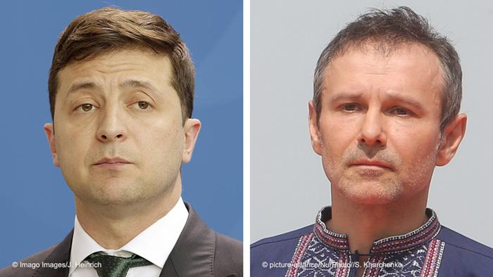 Володимир Зеленський (ліворуч) та Святослав Вакарчук (праворуч)