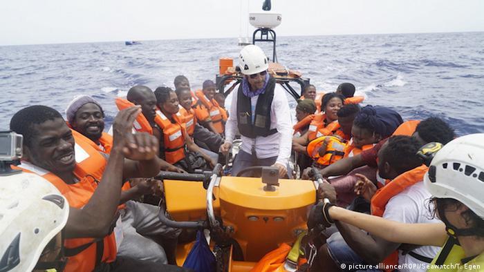 Italien Sea Watch 3 Rettungsaktion vor Lampedusa