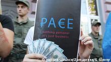 Ukraine Kiew Protest gegen Rückgabe des Stimmrechts an Russland im Europarat