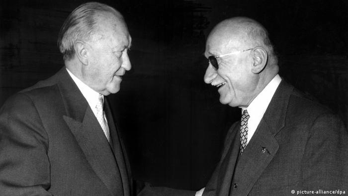 Konrad Adenauer und Robert Schuman