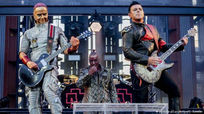 Rammstein performers on stage