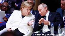 Frankreich 2018 | Wladimir Putin, Präsident Russland & Angela Merkel, Bundeskanzlerin