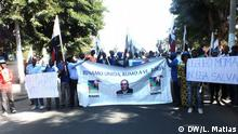 Demonstration zur Unterstützung von Ossufo Momade, Führer von RENAMO (Oppositionpartei - Mosambik) DW/Leonel Matias