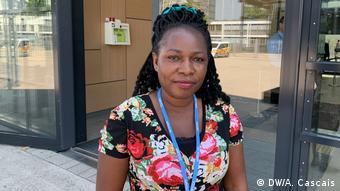 Dorothy Nalubega from the Ecological Party of Uganda (DW/A. Cascais)