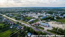 Russland Chemodanovka nach Ausschreitungen zwischen Russen und Roma