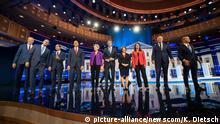 TV-Debatte von zehn Präsidentschaftsbewerbern der US-Demokraten