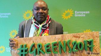 Joao Massango, leader of the Mozambican green party