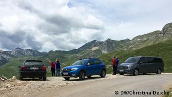 Road trip in the Durmitor Mountains in Montenegro