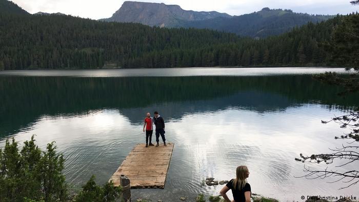Lake in the Durmitor Mountains in Montenegro