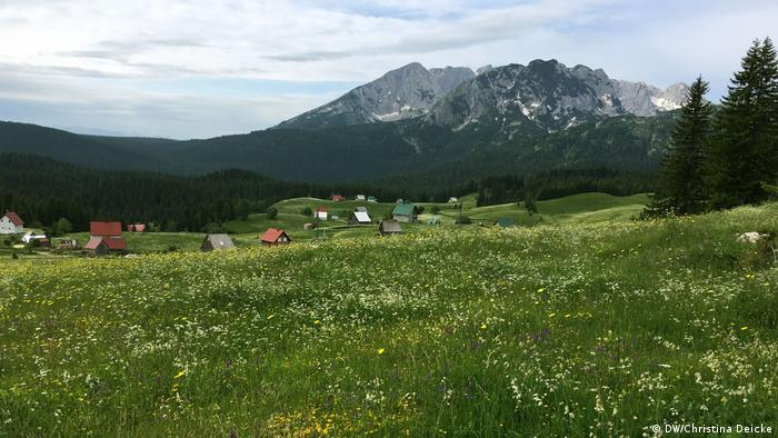 The Durmitor Mountains in Montenegro