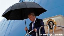 Japan Osaka | G20 Giffeltreffen - Donald Trump am Flughafen in Osaka