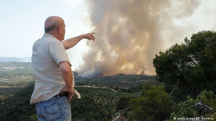 Wildfire in Catalonia