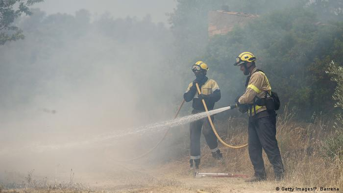 Firefighters in Catalonia