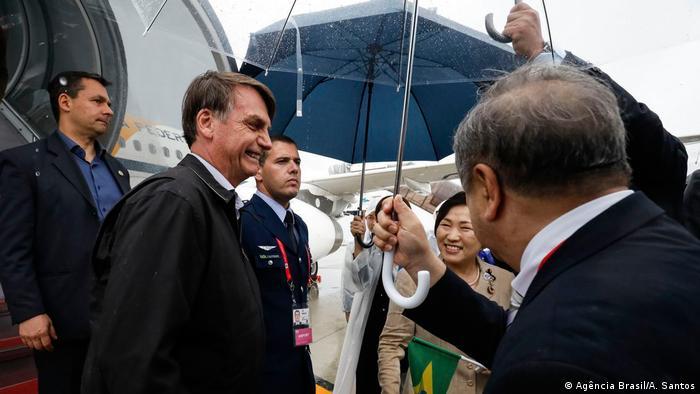 O presidente Jair Bolsonaro no Japão