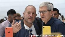 USA Apple-Manager Jonathan Ive Tim Cook