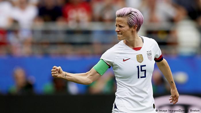 FIFA Fußball WM Frauen Frankreich USA Spielerin Megan Rapinoe