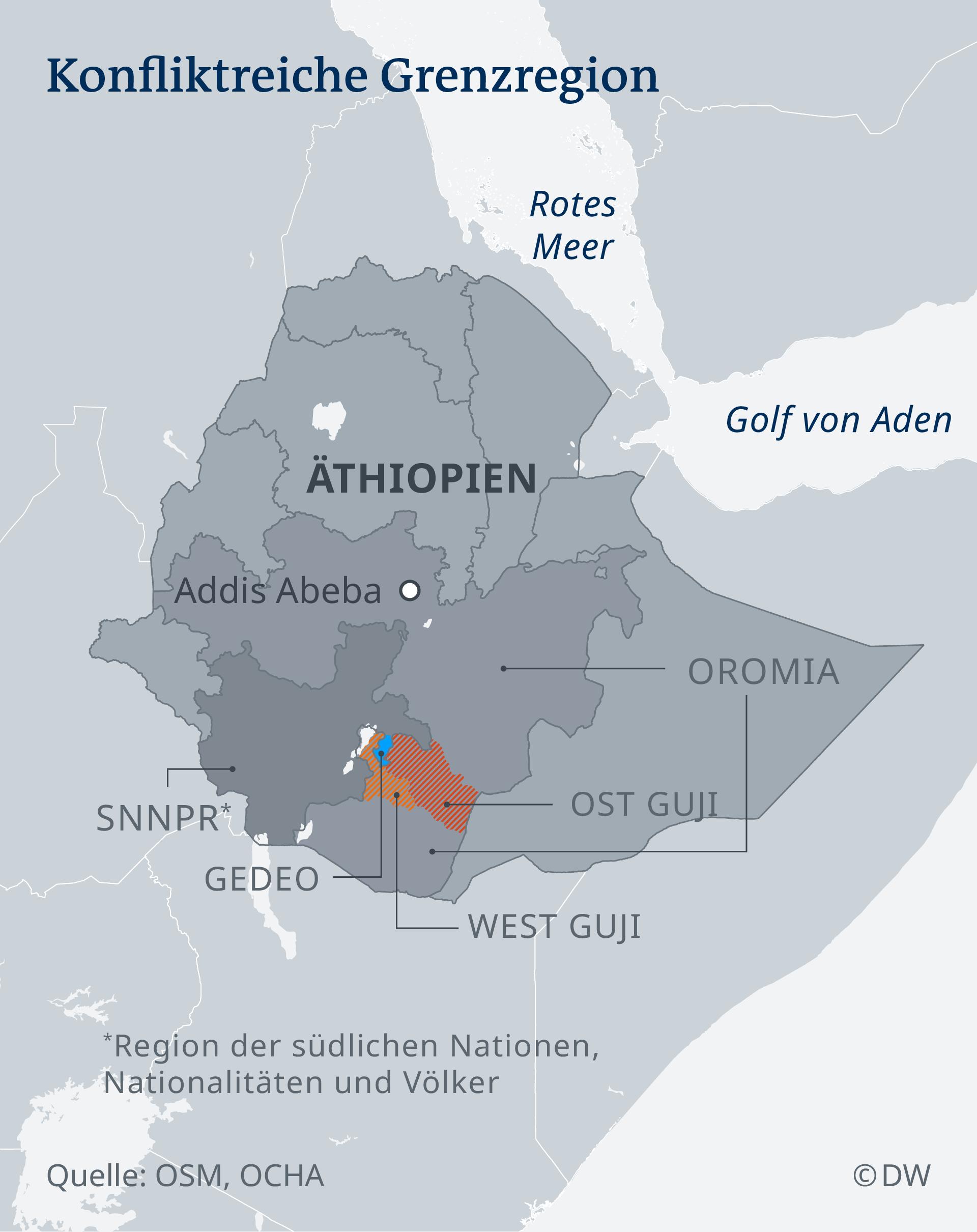 INFOGRAFIK Äthiopien: Konfliktreiche Grenzregion -DE