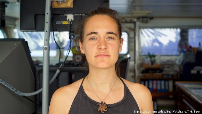 Carola Rackete, capitã alemã que chegou a ser presa por aportar barco com migrantes na Itália