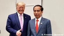 Japan G20 Gipfel Osaka Joko Widodo Präsident Indonesien mit Trump