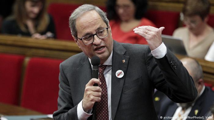 Лідер Каталонії Кім Торра хоче домовитися з прем'єром Іспанії Педро Санчесом про дату референдуму про незалежність регіону