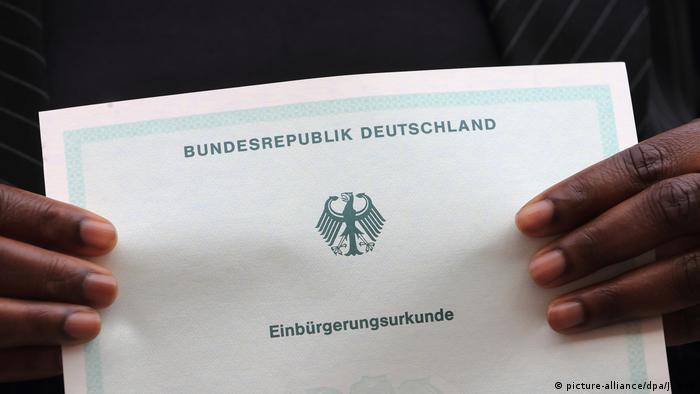 Така изглежда свидетелството за германско гражданство