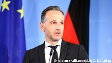 BERLIN, GERMANY - JUNE 28: German Foreign Minister Heiko Maas and Minister of Foreign Affairs of Afghanistan, Salahuddin Rabbani (not seen) hold a joint press conference following their bilateral meeting in Berlin, Germany on June 28, 2019. Cuneyt Karadag / Anadolu Agency | Keine Weitergabe an Wiederverkäufer.
