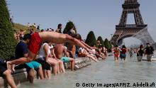 Frankreich Paris - Hitzwelle
