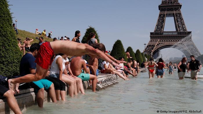 Ola de calor en París.