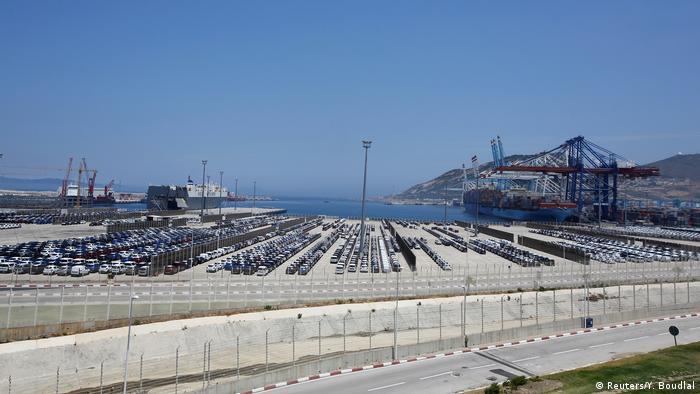Marokko Hafen in Tanger