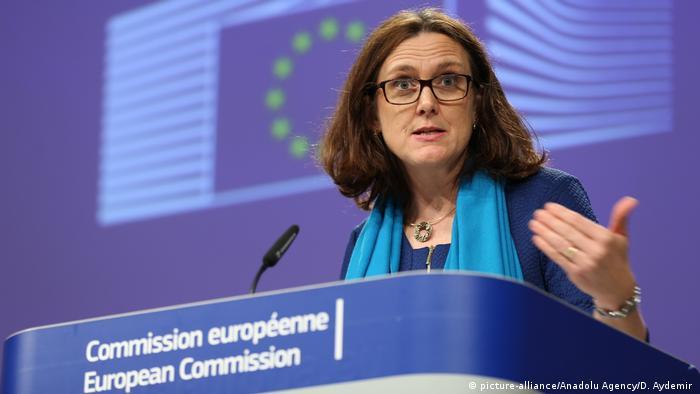 EU trade commissioner Cecilia Malmstrom