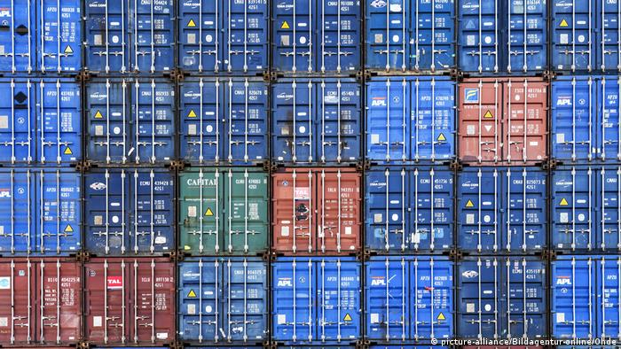 Containers in Hamburg