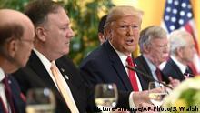 Japan Osaka | G20 Gipfel | Donald Trump, Wilbur Ross, Mike Pompeo, John Bolton, Peter Navarro