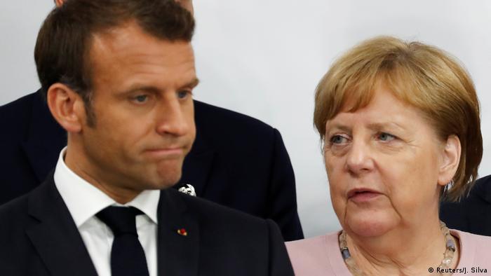 Japan Osaka | G20 Gipfel | Emmanuel und Angela Merkel (Reuters/J. Silva)