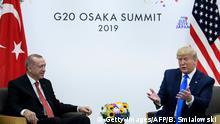 Japan Osaka | G20 Gipfeltreffen - Donald Trump und Recep Tayyip Erdogan