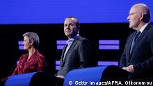Belgien Brüssel EU-Spitzenkandidaten | Margrethe Vestager, Manfred Weber und Frans Timmermans