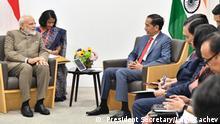 Japan Osaka Präsident Jokowi Aktivitäten bei G20